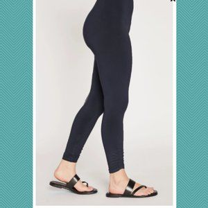 Sympli Dark Brown High Rise Ruched Spark Leggings